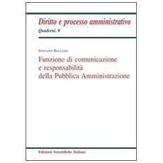 Funzione di comunicazione e responsabilità della Pubblica Amministrazione