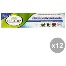 Set 12 Dentifricio Sbiancante Naturale 75 Ml. Prodotti Per Il