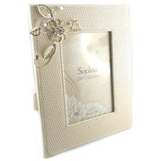 photo frame 'belle de soie' beige (10x15 cm) - [ l1497]