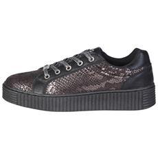 IGI&CO 4156711 sneakers rialzo scarpe donna pelle nero