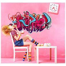 Adesivo Murale Hip-hop street graffiti 02