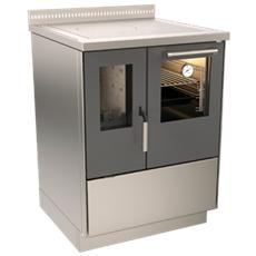 Cucina a Legna ZV60 DX potenza Termica Nominale 7.5 kW Colore Silver
