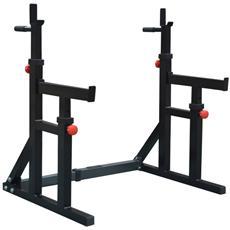 Supporto Squat Rack Adatto Per Esercizi Con Bilanciere, Squat, Distensioni Su Panca E Presse Per Spalle.