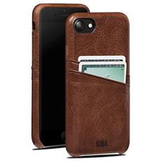 Cases iPhone 7 Snap On Wallet cognac