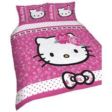 Copriletto Hello Kitty Singolo.Letto Hello Kitty