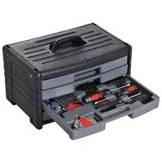 Cassetta Completa 90pz Utensili Da Lavoro Con 4 Cassetti