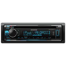 Sintolettore CD KDC-300UV Potenza 4x50W Supporto MP3 / WMA / AAC / WAV / FLAC Nero