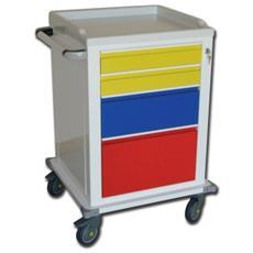 Modular Trolley - Painted Steel - 2+1+1 Drawers