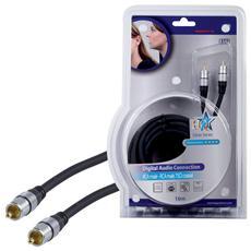 Cavo Audio Digitale RCA Maschio - RCA Maschio 10.0 m Grigio Scuro