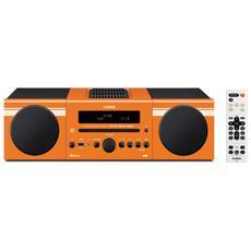 Sistema Micro Hi-Fi MCR-B043 DAB / DAB+ Lettore CD Supporto MP3 / WMA Potenza Totale 30Watt Bluetooth USB colore Arancione