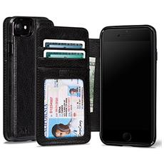 Cases iPhone 7 Wallet Book nero