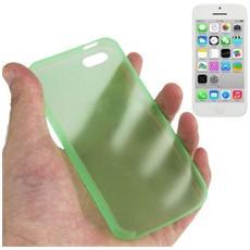 Custodia Ultra Sottile 0.3mm Per Iphone 5c Verde Trasparente