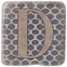 Sottobicchieri Con Lettere (9 X 9 X 0.8cm) (d)