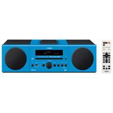 Sistema Micro Hi-Fi MCR-B043 DAB / DAB+ Lettore CD Supporto MP3 / WMA Potenza Totale 30Watt Bluetooth USB colore Azzurro