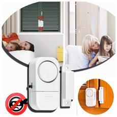 Allarme Porte E Finestre Dhom Teck Funzione Antifurto Protezione Casa Negozio 90 Db Senza Fili