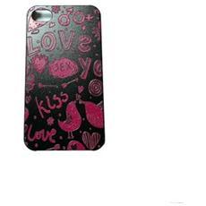 Cover Custodia Iphone4/4s Design Rilievo Love