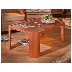 Tavolino Dim 110x70x45h - Metallo Color Rame