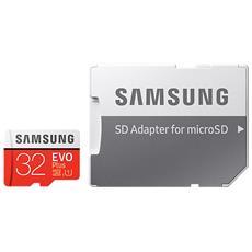 MicroSD HC EVO Plus Capacità 32 GB UHS-I 1 Classe 10 Velocità fino 95 MB / s con Adattatore SD