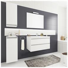 Mobile Per Il Bagno, Design Moderno, Comprensivo Di Lavabo E Specchiera