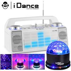 Speaker Idance Xd2 50w Led Blu Aux / Fm / Usb Sunmagic / Fader / Mixer / Bt + Sfera