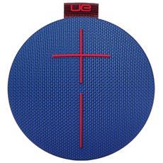 Speaker Wireless Portatile Roll Bluetooth colore Blu / Rosso