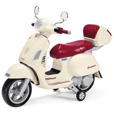 Moto Vespa Piaggio Bianca / Rossa 12 V - New Edition