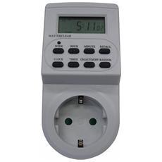Presa Schuko 2P+T 16A con timer digitale maurer 10 Programmi 3600 Watt