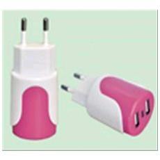 ADATTATORE 10A Doppia spina BISPINA CON 2 PRESE USB MAURER