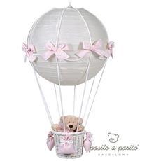 Lampadario Mongolfiera Top Bebè Orsetto Rosa