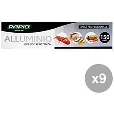 Set 9 Alluminio 150 Mt. Contenitori Per La Cucina