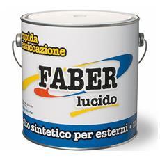 Smalto Sintetico Lucido Faber Laiv colore Rosso Fuoco 0,750 Lt.