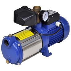 Pompa A Getto Con Manometro 1300 W 5100 L / h Blu