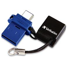 Chiavetta USB 64 GB Interfaccia USB Type-A / Type-C Colore Nero / Blu