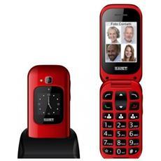"""Unico Max Senior Phone Display 2.4 """" Slot MicroSD Tasti Grandi + SOS Fotocamera Colore Rosso Lucido - Italia"""
