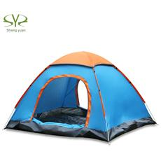 Shengyuan Impermeabile All'aria Aperta Configurazione Istantanea Automatica Due Porte Tenda Da Campeggio Per 3 - 4 Persone Con Tettoia