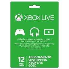 Abbonamento Xbox Live 12 Mesi Gold Card