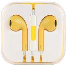 Cuffie Auricolari Con Microfono Compatibili Iphone 5/5s / 6/6s / ipod / ipad Gialle