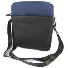 borsa a tracolla 'indispensable' blu scuro (2 scomparti) - 27x21x7 cm - [ n6581]