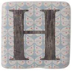 Sottobicchieri Con Lettere (9 X 9 X 0.8cm) (h)
