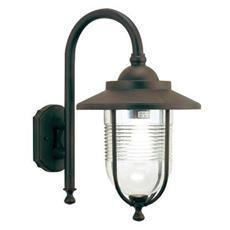 Applique in basso lampada classica illuminazione esterno ruggine 100w
