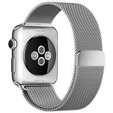 Cinturino in acciaio da 42 mm per Apple Watch Loop in maglia milanese