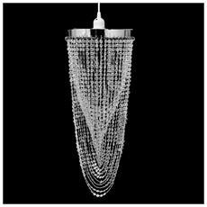 Lampadario Da Soffitto Con Paralume Cristallo 22 X 58 Cm