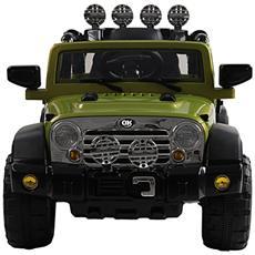 Macchinina Elettrica Modello Jeep Per Bambini Verde 118x74x75cm