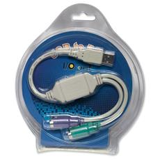 SY-USB-PS2, USB, PS2, Maschio / maschio, Bianco, 13,97 cm, 5,08 cm