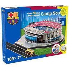 Puzzle 3D Stadio Ufficiale FCB Barcellona Camp Nou in Legno 100 Pezzi Nanostad