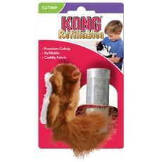 Per gatti modello Squirrel a forma di scoiattolo morbido e riempibile con erba gatta