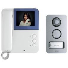Kit Videocitofono Simply Mikra Video Monitor Colori 2 Fili Monofamiliare