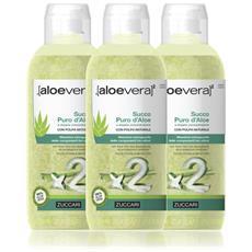 Succo Puro Aloe Vera - 3 Bottiglie Da 1 Lt