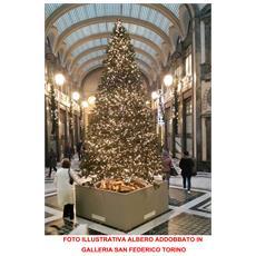 Albero Di Natale Abete Con Pigne 390cm Molto Folto Pvc Pe 9386 Rametti