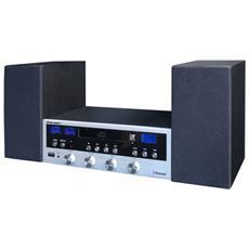 HIF-6970BT, Nero, Argento, AC, 3,5 mm, CD, CD-R, CD-RW, FM, Digitale